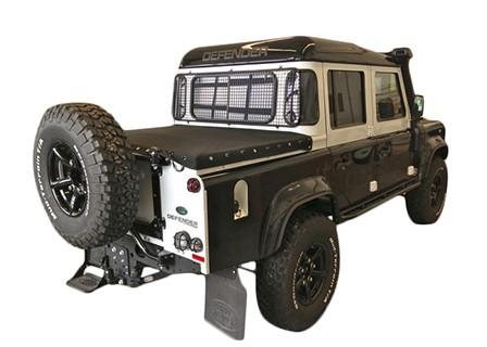 "Land Rover Defender Crew Cab 110"" Tonneau Cover MOHAIR"