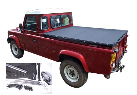 "Land Rover 90"" MOHAIR Tonneau Cover Kit & Support Bars"
