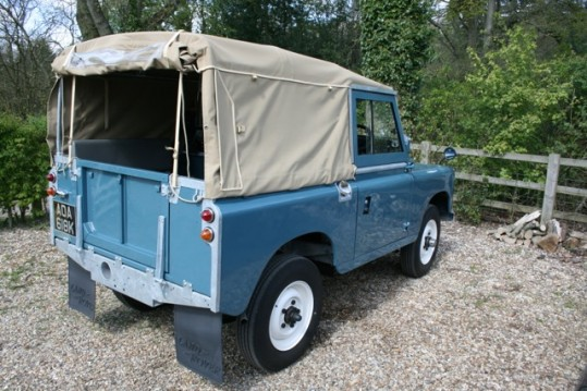 "Land Rover Defender 88"" Full Sand Canvas Hood"