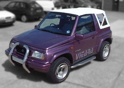 Suzuki Vitara Mk1 PVC Soft Top White